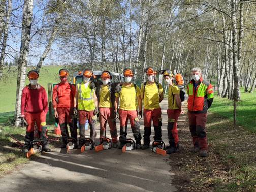 Formation professionnelle : futurs tractoristes et bûcherons !