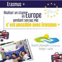 Des stages à l'étranger pour les BAC PRO avec Erasmus plus